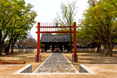 Il Sud Corea del villaggio di Jeonju Hanok Immagine Stock