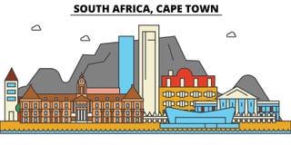 Il Sudafrica, Cape Town Architettura dell'orizzonte della città Fotografie Stock