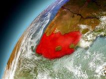 Il Sudafrica dall'orbita di Earth di modello Fotografie Stock