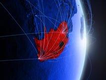 Il Sudafrica su terra digitale blu blu immagini stock libere da diritti