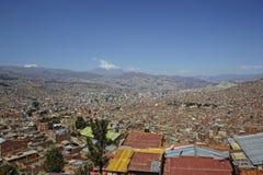 Il Sudamerica, Bolivia, La Paz, paesaggio urbano immagini stock libere da diritti