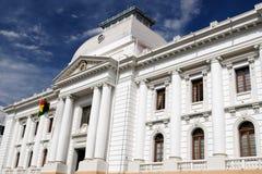 Il Sudamerica, costruzione coloniale bianca Immagini Stock Libere da Diritti