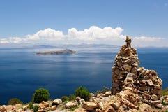 Il Sudamerica, paesaggio del lago Titicaca Immagine Stock Libera da Diritti