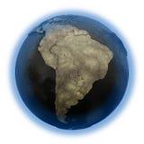 Il Sudamerica su terra di olio Fotografia Stock