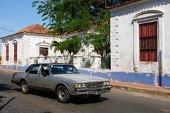 Il Sudamerica, Venezuela, vista sulla città coloniale di Coro fotografie stock