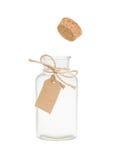 Il sughero schiocca fuori dalla bottiglia Immagine Stock Libera da Diritti