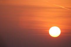 Il Sun arancione Immagini Stock Libere da Diritti