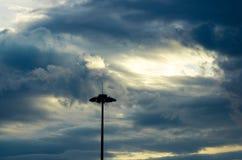 Il Sun aumenta dopo la tempesta Immagine Stock