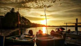 Il Sun caduto Fotografie Stock