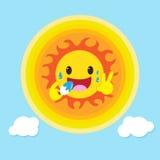 Il Sun come mangia il gelato Fotografia Stock Libera da Diritti