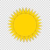 Il Sun di vettore ha isolato su fondo trasparente, arte di carta royalty illustrazione gratis