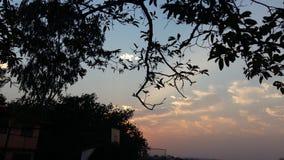 Il Sun ha messo il cielo Fotografie Stock