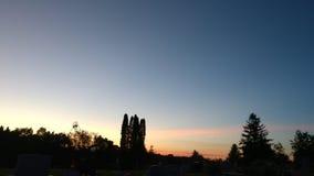 Il Sun ha messo il sera tardi fotografia stock libera da diritti