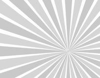 Il Sun monocromatico di vettore irradia l'illustrazione del fondo, il sole dei fumetti del fumetto illustrazione di stock