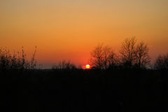 Il Sun va giù fotografia stock libera da diritti