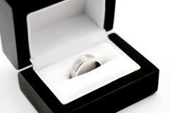 Il suo anello di oro bianco Fotografia Stock Libera da Diritti