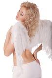 Il suo angelo di guardiano fotografia stock