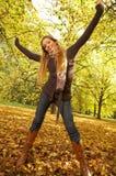 Il suo autunno! 2 Fotografia Stock Libera da Diritti