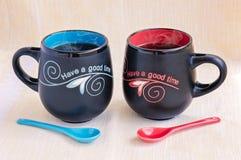 Il suo e le sue tazze di tè Immagine Stock Libera da Diritti