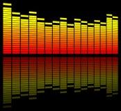 Il suono di Digitahi livella illustrazione vettoriale