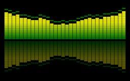 Il suono di Digitahi livella Immagini Stock