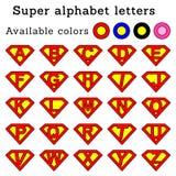 Il superman segna arrotondato & x28; pink& x29; Immagini Stock