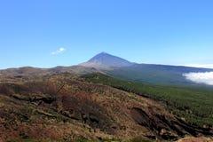Il supporto conico Teide del vulcano Fotografia Stock Libera da Diritti