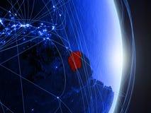 Il Surinam su terra digitale blu blu immagini stock