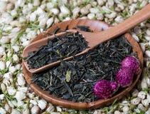 Il tè asciutto fiorisce la composizione Fotografia Stock