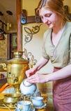 Il tè russo caldo Immagini Stock Libere da Diritti