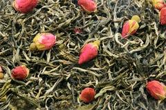 Il tè verde con è aumentato Immagine Stock