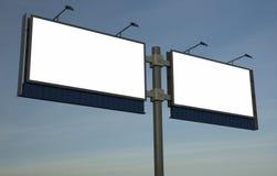 Il tabellone per le affissioni in bianco, aggiunge appena il vostro testo Immagini Stock Libere da Diritti