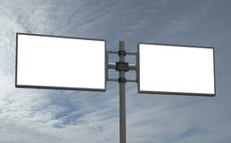 Il tabellone per le affissioni in bianco, aggiunge il vostro messaggio Fotografia Stock Libera da Diritti