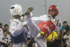 Il taekwondo Fotografie Stock Libere da Diritti