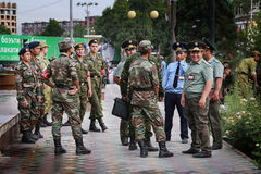 Il Tagikistan: Parata militare in Dušanbe Fotografia Stock Libera da Diritti