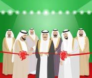 Il taglio dei nastri dall'uomo arabo immagini stock libere da diritti