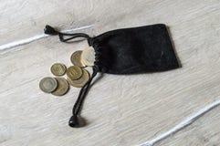 Il taglio della moneta, la moneta, Lira turca, estrae la Lira turca, Fotografia Stock Libera da Diritti