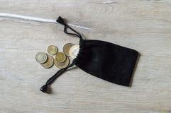 Il taglio della moneta, la moneta, Lira turca, estrae la Lira turca, Immagine Stock