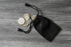 Il taglio della moneta, la moneta, Lira turca, estrae la Lira turca, Fotografie Stock Libere da Diritti