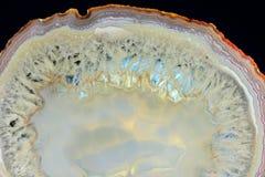 Il taglio evidenziato dell'agata bianca Immagine Stock Libera da Diritti