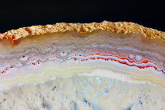 Il taglio evidenziato dell'agata bianca Immagini Stock Libere da Diritti