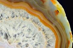 Il taglio evidenziato dell'agata bianca Immagine Stock