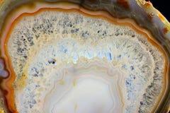 Il taglio evidenziato dell'agata bianca Fotografia Stock