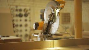 Il taglio ha visto nell'officina della falegnameria, officina di carpenteria, elaborante video d archivio