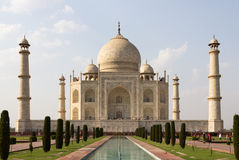 Il Taj Mahal, monumento storico famoso di A fotografia stock