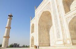 Il Taj Mahal, posto storico in India fotografie stock