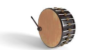 Il tamburo ed i precedenti dei magli, rappresentazione 3d royalty illustrazione gratis