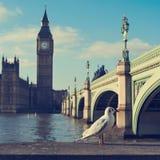 Il Tamigi e Big Ben a Londra, Regno Unito, con Immagini Stock