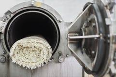 Il tappeto nella centrifuga automatica per lavare Immagine Stock Libera da Diritti
