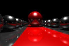 Il tappeto rosso Fotografie Stock